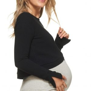Maternity Crop Jumper Cross Your heart Bae the Label