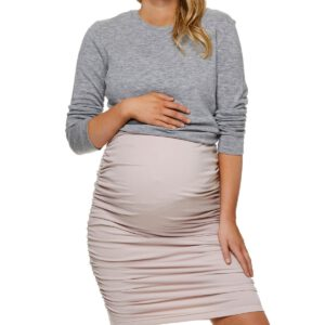 Maternity Skirt Bae The Label Count Your Blessings Pink Stone