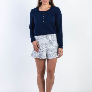 Brooke button down nursing longsleeve with skirt