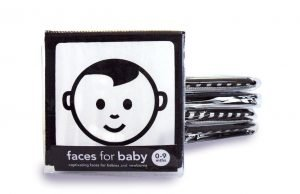 Baby cloth zig zag book black and white by Mesmerised