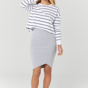 Bellevue Skirt Grey Marle by Legoe Heritage