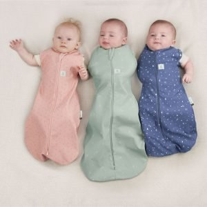 Ergopouch Cocoon 1.0 Tog HEritage Collection pink. blue and sage