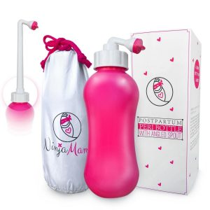 Upside down Peri bottle for post partum care after birth