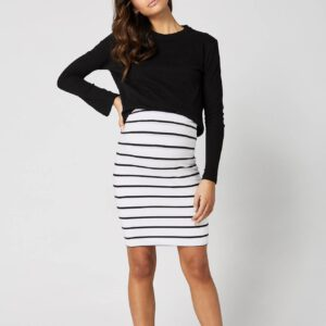 Maternity Skirt Downtown Stripe by Legoe Heritage