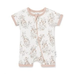Aster and Oak Floral Romper