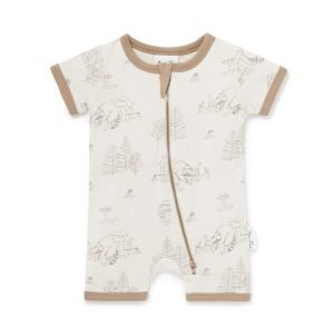 Aster and Oak Racoon Romper