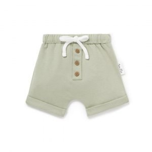 Aster and Oak Sage Button Shorts