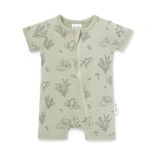 Frog Pond Romper Aster and Oak