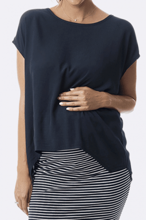 Maive and Bo Maternity Top Boho Drape