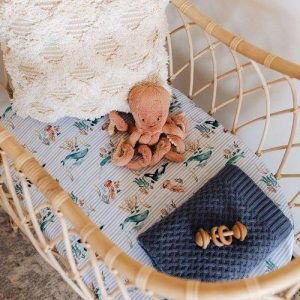 Whale bassinet cover Snuggle Hunny