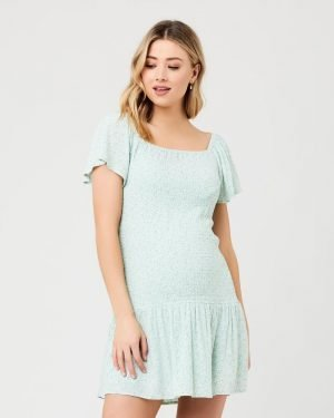 Ripe Betsie Shirred Maternity Nursing Dress