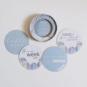 Eventide and Ice Blue Baby Milestone cards