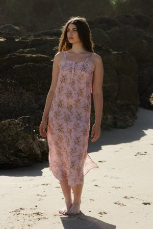 Dreamers and drifters love story rose midi dress nursing