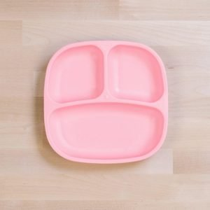 Re-play divided plate recycled ice pink