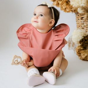 Snuggle Hunny Terracotta Waterproof Bib