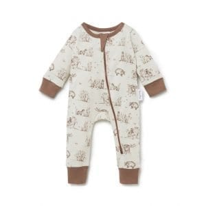 Badger Zip Romper Organic Cotton