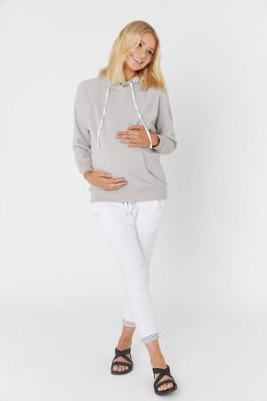 Legoe Empire Hoodie Stone for Pregnancy and Nursing
