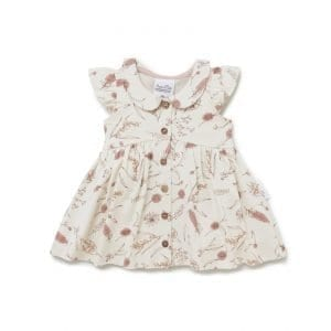 Native FLora Button Dress for Baby