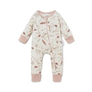 Native Flora Zip Romper Organic Cotton Baby Wear