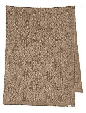 Organic Cotton Baby Blanket Cocoa