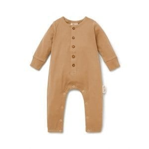 Rib Button Romper Taffy Organic Cotton