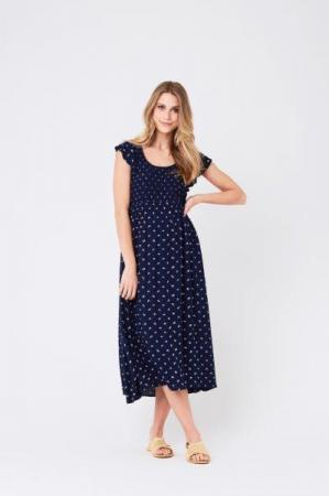 S1113 Bobbie Shirred Dress INWH 01