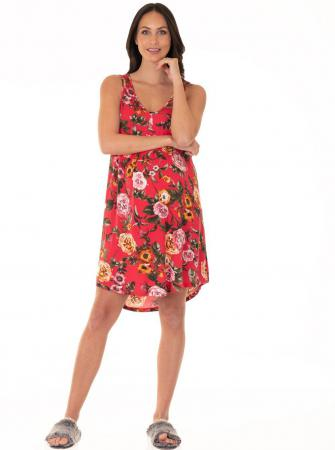 Angel Maternity Swing Dress Red FLoral