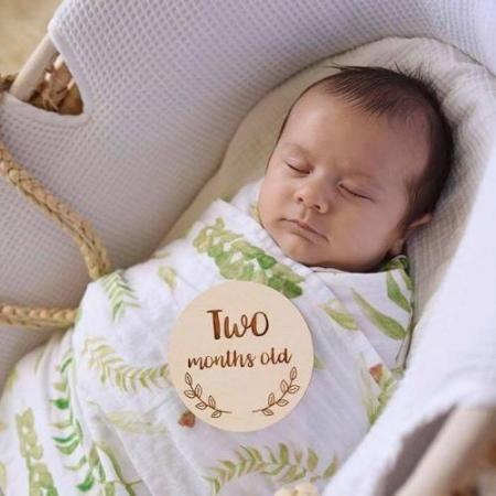 Native Leaves Baby Swaddle Gift