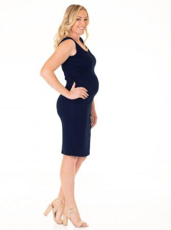 Maternity Bodycon tank dress navy