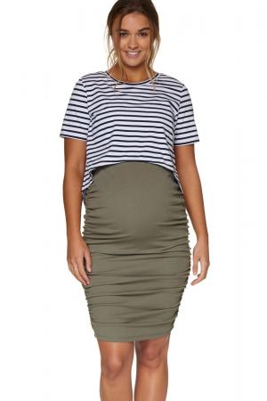 Bae the label count your blessings maternity skirt khaki