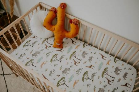 Safari fitted cot sheet on Ikea cot