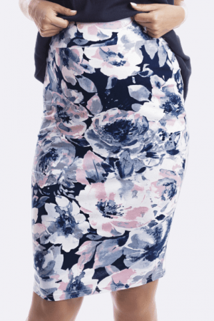 Over The Bump Maternity Skirt in Aquarelle