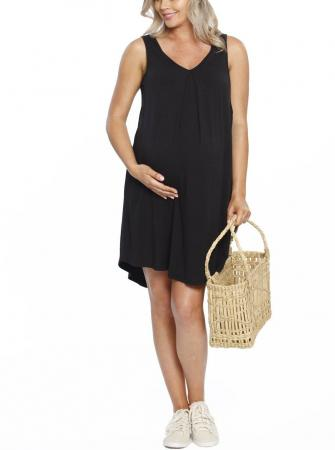 Maternity Nursing Dress Black