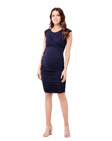 Dahlia Cross Your Heart Pregnancy Dress by Ripe Maternity Full