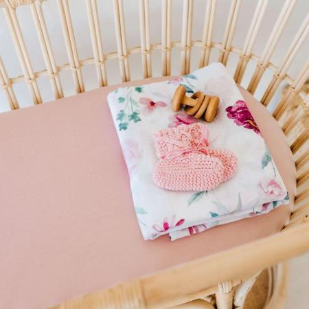 Snuggle Hunny Lullaby Pink Bassinet Cover