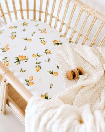 Lemon Bassinet and Change Pad Cover by Snuggle Hunny Kids