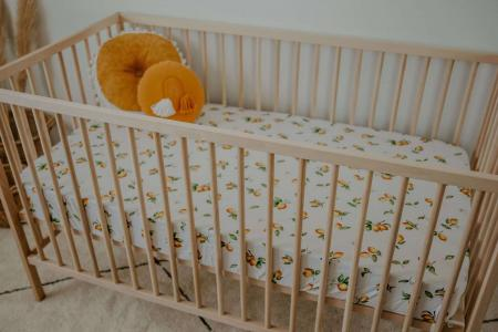 Lemon Cot Sheet by Snuggle Hunny Kids