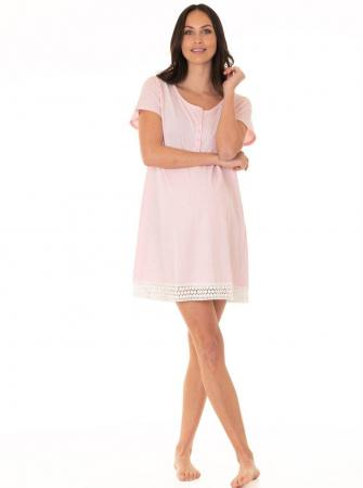 Nursing Sleep Dress Button Front