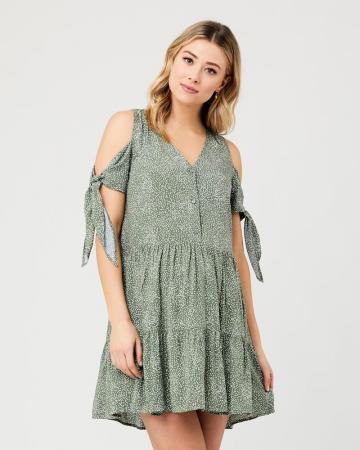 Lottie Tie Sleeve Pregnancy And Nursing Dress