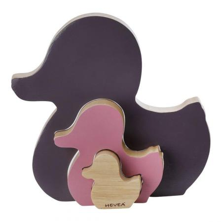 Hevea Shape sorter duck natural wood