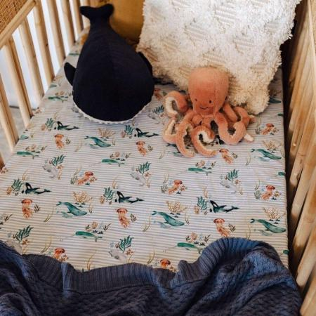 Whale Cot Sheet