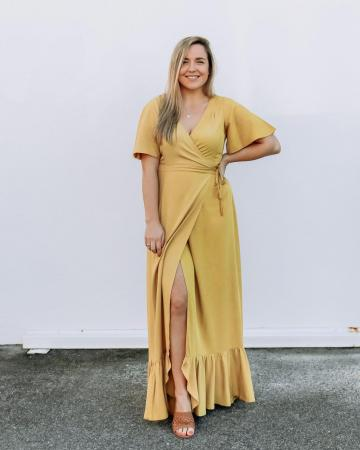 Flutter Wrap Dress Honey