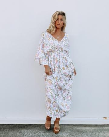 Dreamers and Drifters Dragonfly Maternity Nursing Dress