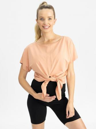 Reversible T Shirt Crop Maternity Top Front