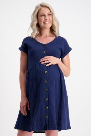 Linen Maternity Shift Dress by Maive and Bo