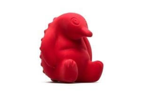 Pipa the Echidna Teething Bath Toy Natural Rubber Australian Design