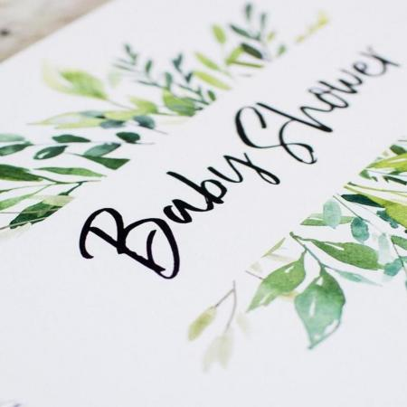 Baby Shower Guest Book Greenery