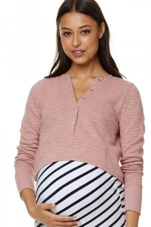 Something Real Maternity Crop Top Pink Bae The Label