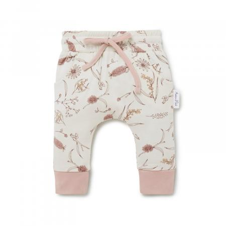 Baby Harem Pants Organic Cotton by Aster and Oak Native Flora AW21