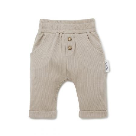 Stone rib slouch baby. pants Aster and Oak Organic Cotton